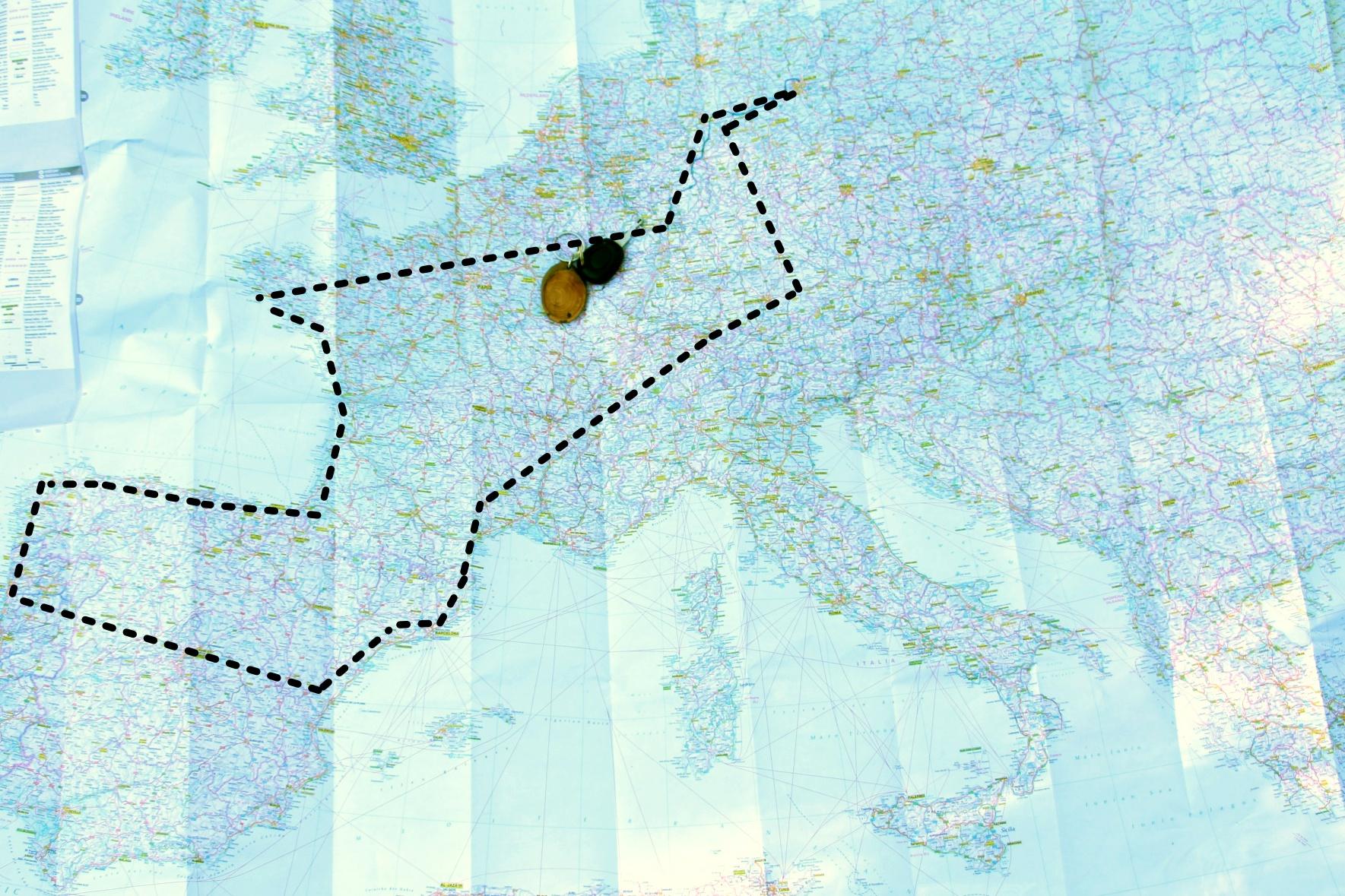 Masterplan der Reise durch Südeuropa
