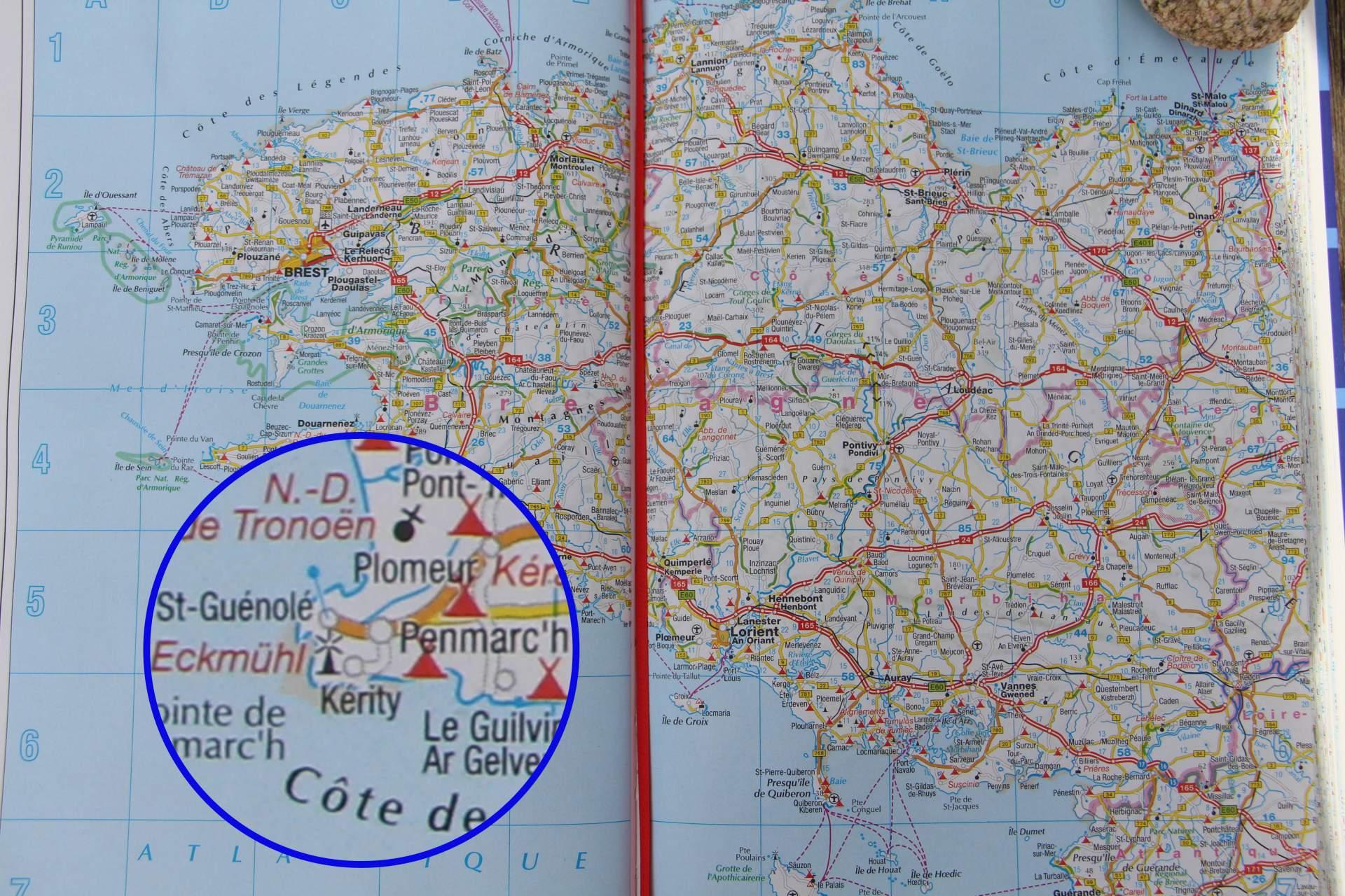 Penmarch Karte Bretagne