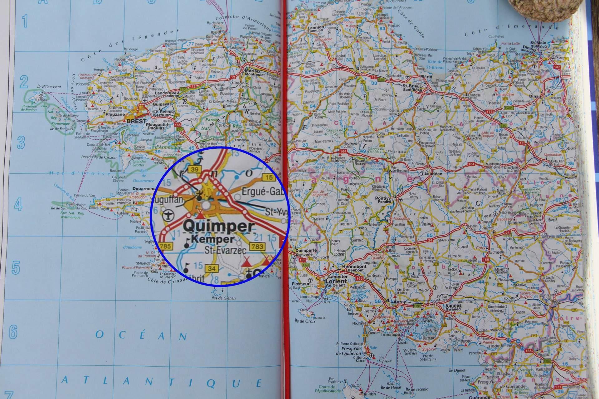 Quimper Karte Bretagne